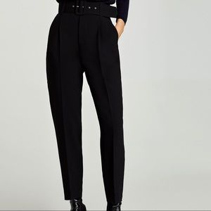 Zara High Waisted Pants with Belt